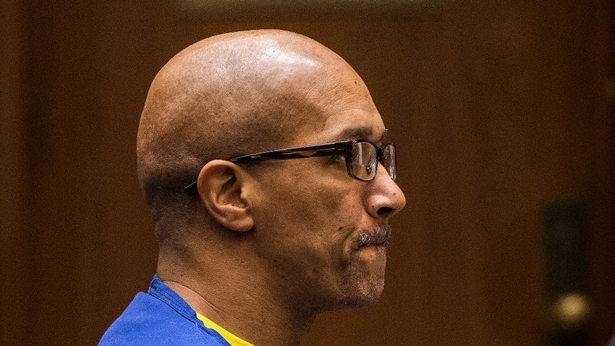 Dawud Abdulawali is ordered to stand trial on arson charges during a preliminary hearing in Los Angeles Wednesday, May 11, 2016. Abdulawali, 57, is accused of starting the Dec. 7, 2014, fire that gutted the seven-story Da Vinci complex, blew out windows at adjacent downtown office towers and caused an estimated $100 million in damage. (AP Photo/Damian Dovarganes)