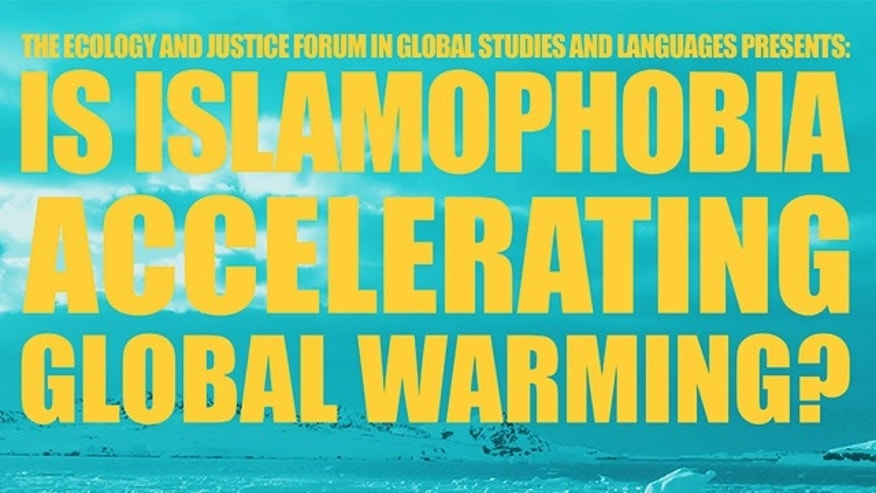 A presentation at MIT attempted to link the so-called phenomenons of Islamophobia and global warming.