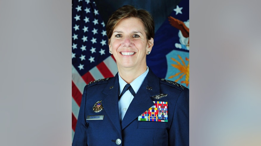 This undated U.S. Air Force photo shows Gen. Lori Robinson, the new commander of the North American Aerospace Defense Command (NORAD), and U.S. Northern Command at Peterson Air Force Base, Colo.  (U.S. Air Force via AP)