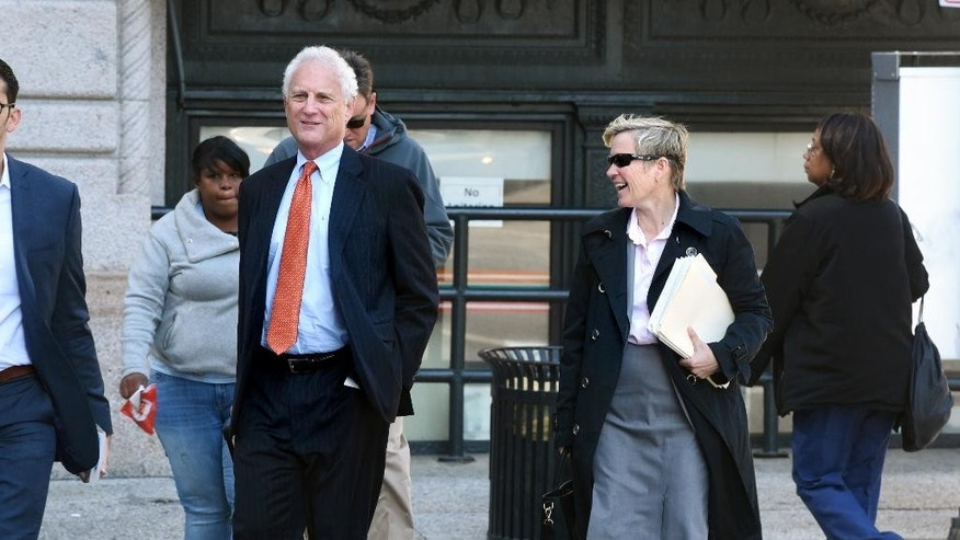 Chief Deputy State's Attorney Michael Schatzow, left, and Deputy State's Attorney Janice Bledsoe, walk to the courthouse on Monday, May 16, 2016, for the trial of Officer Edward Nero, one of the Baltimore city police officers charged in connection to the death of Freddie Gray. (Jerry Jackson/The Baltimore Sun via AP)  WASHINGTON EXAMINER OUT; MANDATORY CREDIT