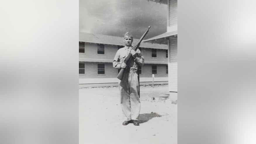 This undated photo provided by the Keating family shows Pvt. Earl Joseph Keating, who died more than seven decades ago in World War II. Keating's remains are scheduled to be returned to Louisiana on Monday, May 23, 2016. He died in 1942 on the Pacific island of New Guinea. (Courtesy of the Keating family via AP)