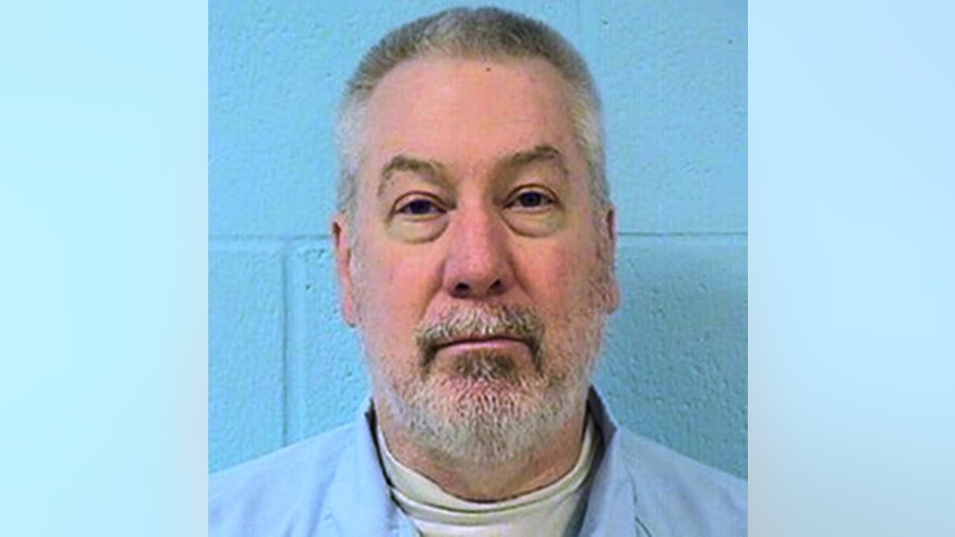 FILE - This undated file photo provided by the Illinois Department of Corrections shows former Bolingbrook, Ill., police officer Drew Peterson. Peterson's murder-for-hire trial continues Friday, May 27, 2016, in Chester, Ill., with lawyers expected to start calling witnesses. Peterson is accused of trying to hire someone while in prison to kill former Will County State's Attorney James Glasgow, who helped convict Peterson in 2012 of killing Peterson's third wife, Kathleen Savio, eight years earlier. (Illinois Department of Corrections via AP, File)