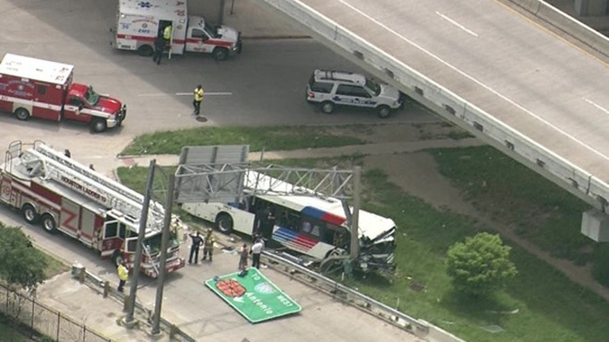 June 1, 2016: At least 32 people were injured in a bus crash in Houston.