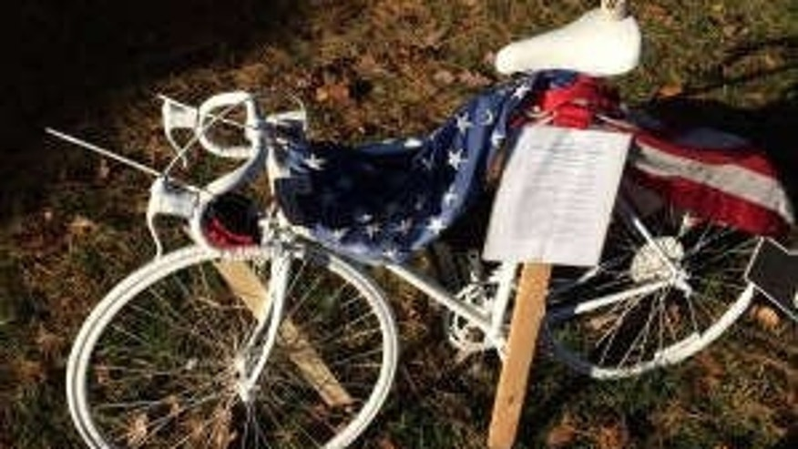 Ghost Bike honoring death of US Navy Seal