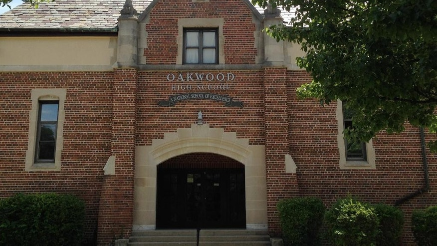 An exterior of Oakwood High School is seen in Oakwood, Ohio Thursday June 9, 2016.   Anger and skepticism fill the streets of this wealthy suburban enclave following intense scrutiny of a six-month rape sentence handed down to Brock Turner, a former resident, a star swimmer for Stanford whose conviction ended his athletic career and cast a light on his background and the community he grew up in. Turner attended Oakwood High School. (AP Photo/Ann Sanner)