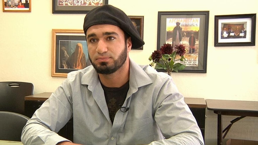 In this Monday, June 13, 2016 image taken from video, Bilal Miskeenyar is interviewed in Fremont, Calif. In Fremont, a Northern California city with the nation's largest population of Afghan-Americans, people are expressing anger, sorrow and disbelief that one of their own could commit the worst mass shooting in modern U.S. history. Omar Mateen, who killed dozens of people in a gay nightclub in Orlando, Fla., on Sunday, was born to Afghan immigrant parents. (AP Photo/Terry Chea)