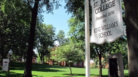 The campus of St. John's College is seen in a June 10, 2016 photo in Annapolis, Md. The college's Board of Visitors and Governors proposes naming one president over the college's two campuses in Annapolis, Maryland, and Santa Fe, New Mexico, instead of the current two presidents. Board members say they aim improve the college's fiscal health by being more efficient, not change its unique curriculum.  (AP Photo/Brian Witte)