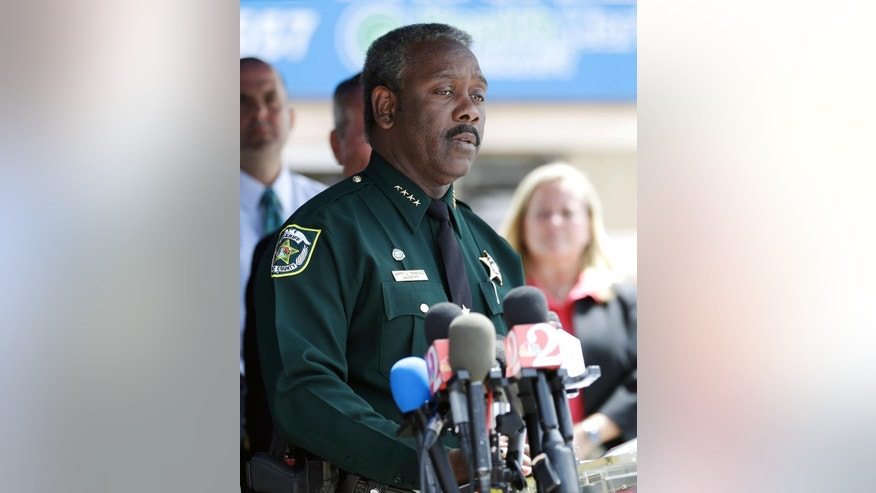 Orange County Sheriff Jerry Demings speaks during a news conference with updates about the recent mass shooting at the Pulse nightclub, Monday, June 20, 2016, in Orlando, Fla. (AP Photo/John Raoux)