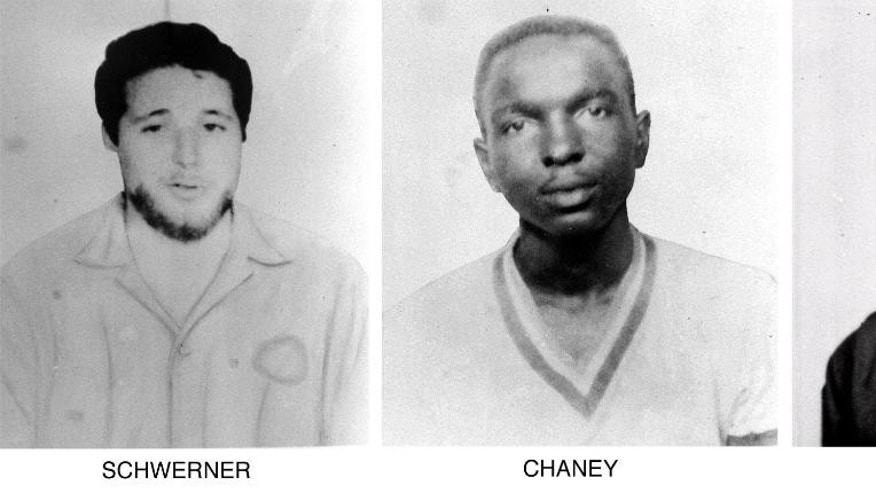 On June 29, 1964, the FBI began distributing these pictures of civil rights workers, from left, Michael Schwerner, 24, James Cheney, 21, and Andrew Goodman, 20, who disappeared near Philadelphia, Miss., June 21, 1964.