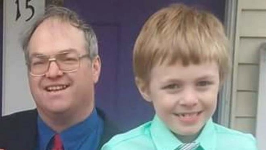 Peter Carter and his son George in Georgetown, Mass. (Fox 25 Boston)