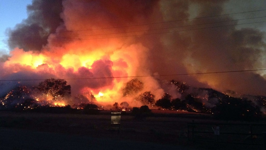 July 9, 2016: Sage fire burns in Santa Clarita, Calif.