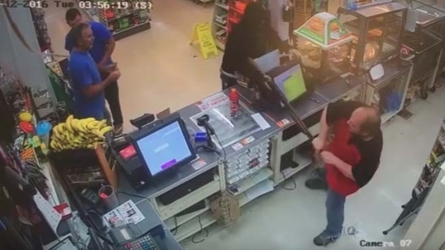Image from surveillance camera footage at 7-Eleven off in Maryland. (Frederick News Post)
