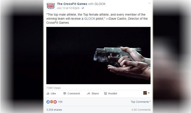 Crossfit Games to award Glock pistols to winning athletes