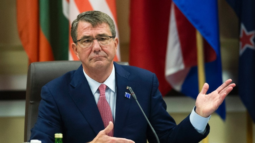 Defense Secretary Ash Carter at Andrews Air Force Base Wednesday.