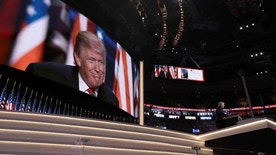 Republican Presidential Candidate Donald Trump, speaks during the final day of the Republican National Convention in Cleveland, Thursday, July 21, 2016. (AP Photo/Evan Vucci)