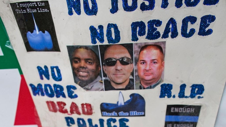 Vigil for Officers Killed in Baton Rouge