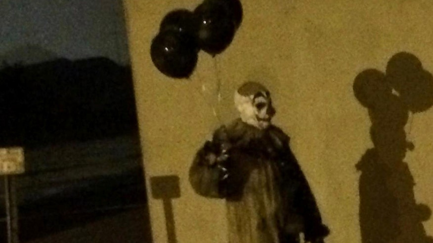 This photo, posted to Facebook Aug. 2, shows a person dressed as a clown in Green Bay, Wis.