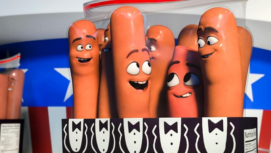 """This image released by Sony Pictures shows a scene from """"Sausage Party."""" (Columbia, Sony Pictures via AP)"""