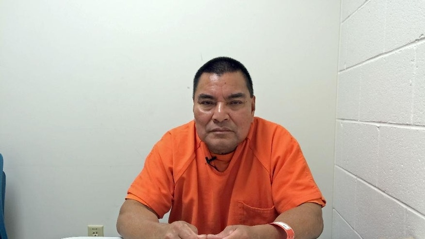 This Aug. 5, 2016 photo shows Guatemalan massacre suspect Santos Lopez Alonzo at a U.S. Immigration and Customs Enforcement (ICE) detention facility in Adelanto, Calif. Lopez Alonzo was arrested in the U.S. in 2010 on immigration violations and held as a material witness in the U.S. government's prosecution of a fellow former soldier from Guatemala. He was deported from the United States on Wednesday, Aug. 10, 2016, after a court refused his plea to stay because he fears for his life.  He faces an arrest warrant in Guatemala for his alleged participation in a 1982 massacre during the country's civil war. (AP Photo/Amy Taxin)
