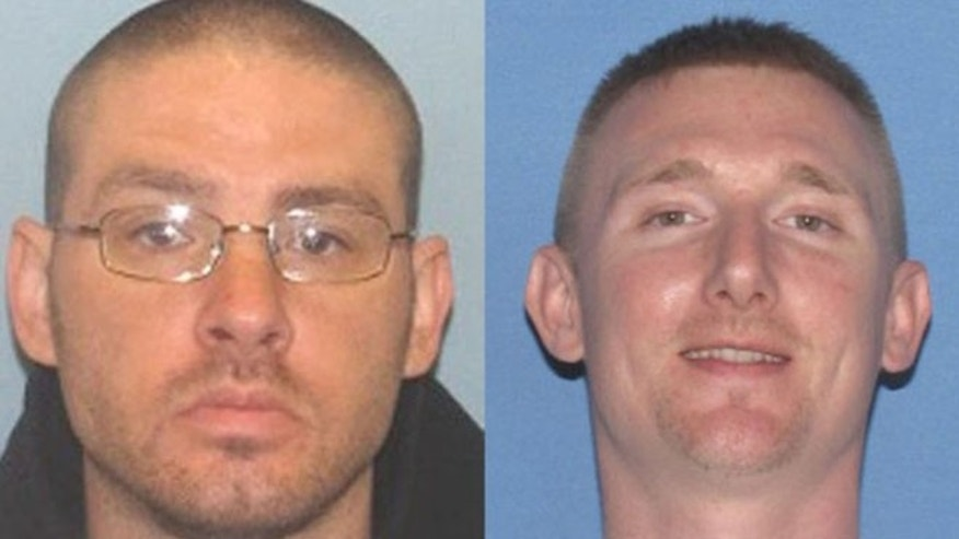 Photos of James Nelson II, 36, and Jesse Hanes, 38. (Ross County, Ohio, Sheriff's Office)