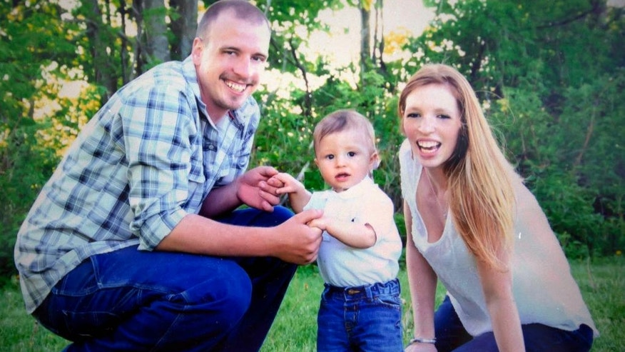 "This photo provided by Erika Marble shows her with Edward Martin III and their son. Marble recalls, ""He felt like he was going to be a drug addict the rest of his life."" Ironically, one thing did work. ""He needed jail,"" she says, noting that Martin prospered while serving time for fraud. ""It made him better, strangely. He was clean. He had a clear conscience. He had the counseling ... He needed to be in there a lot longer than he was."" (Courtesy Erika Marble via AP)"
