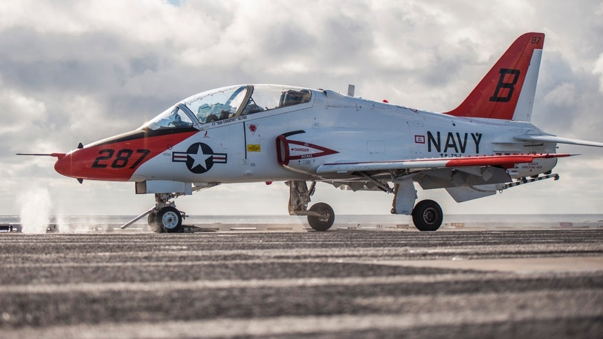 File image of a U.S. Navy T-45.