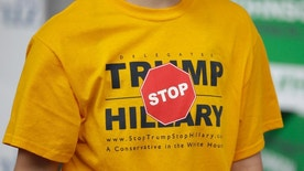 This April 23, 2016, file photo, a person displays their t-shirt outside of the Utah Republican Party 2016 convention, in Salt Lake City. Donald Trump has shattered the normal Republican consensus in Utah even more so than he has nationwide, activating fault lines under a normally stable electorate largely unified by a single religion. (AP Photo/Rick Bowmer, File)