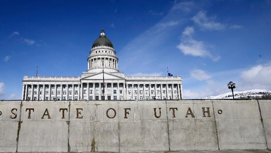 This Jan. 25, 2016, file photo, the Utah State Capitol is shown in Salt Lake City. Donald Trump has shattered the normal Republican consensus in Utah even more so than he has nationwide, activating fault lines under a normally stable electorate largely unified by a single religion. (AP Photo/Rick Bowmer, File)