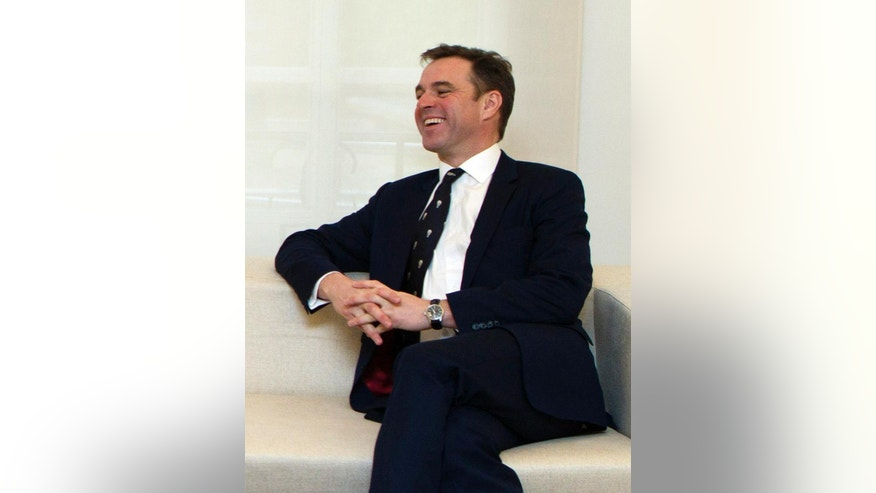 FILE--In this Jan. 31, 2011 file photo, Niall Ferguson, Harvard University Professor of History, laughs during a meeting at the Moncloa Palace in Madrid. Imagine a dream team of the nation's top historians, recruited by the White House to advise the president on major decisions. That's the idea being pitched by two Harvard University scholars who allege that many U.S. leaders know alarmingly little about history, both in their own country and in others. Campaigns for Hillary Clinton and Donald Trump did not immediately say whether they support the idea. (AP Photo/Paul White, File)