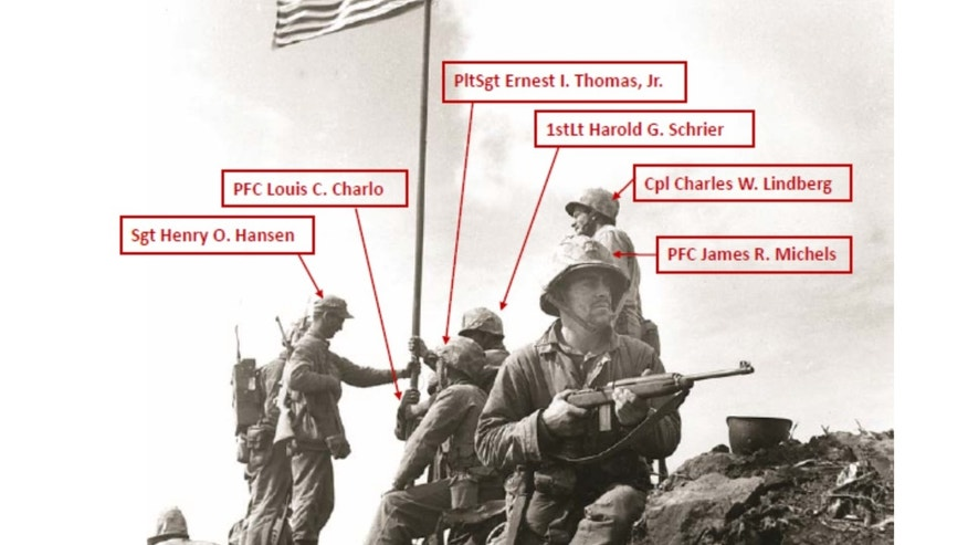 The Marine Corps announced that Pfc. Louis C. Charlo and Pfc. James R. Michels actually didn't appear in this photo.