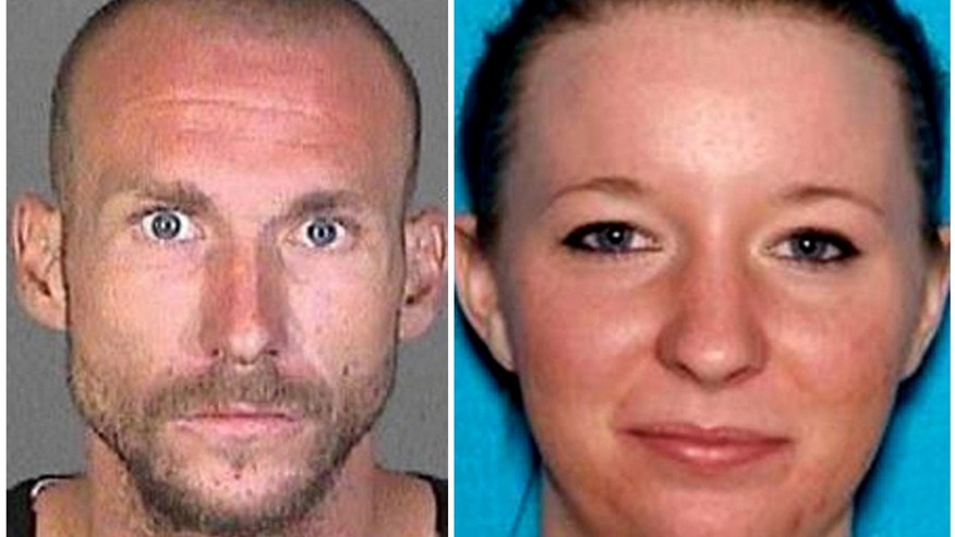 This photo combination provided by the Los Angeles County Sheriff's Department shows Joshua Robertson and Brittany Humphrey.