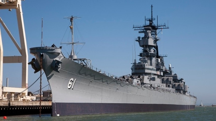The USS Iowa.
