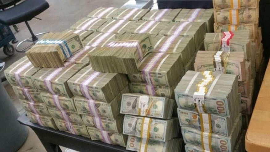 Border patrol agents seized $3 millon in illicit currency Tuesday. (U.S. Customs and Border Protection)