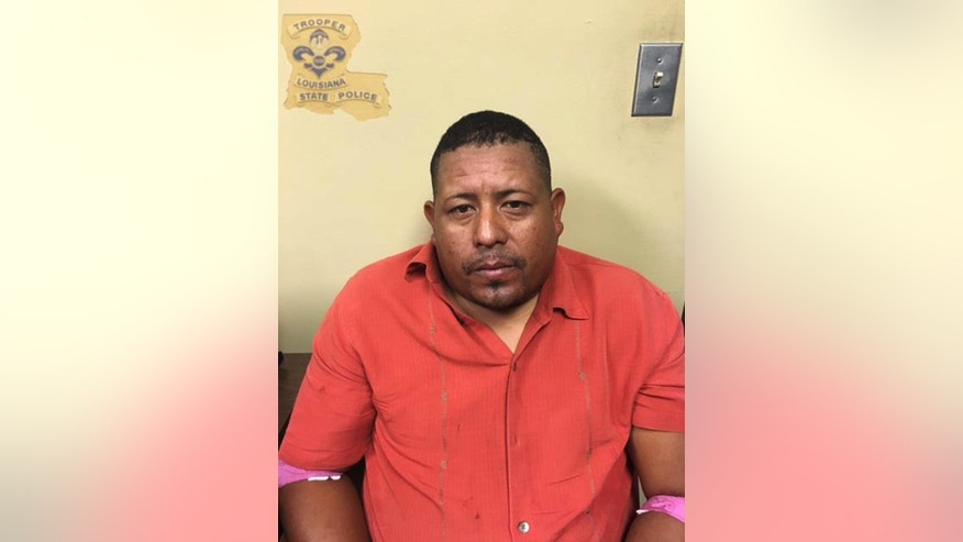 This photo provided by the Louisiana State Police shows Denis Yasmir Amaya Rodriguez. A bus full of construction workers hit a firetruck on an elevated highway Sunday, Aug. 28, 2016, killing a few people and injuring dozens, several of them seriously, Louisiana State Police said. The State Police identified the bus driver as Rodriguez, who will be arrested on two counts of negligent homicide and one each of reckless driving and driving without a license, Trooper Melissa Matey said. (Louisiana State Police via AP)