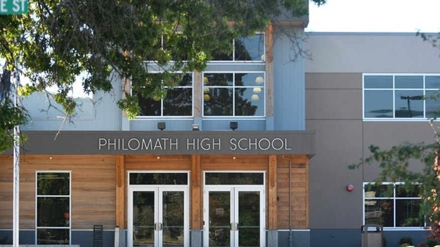 Philomath High School is shown Monday, Aug. 29, 2016, in Philomath, Ore.