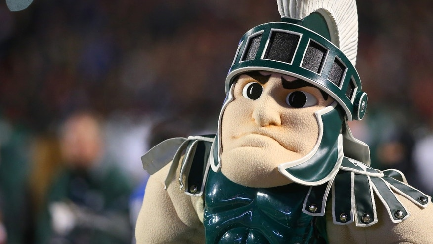 The Michigan State Spartans' mascot.