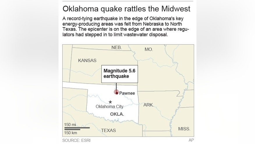 Map locates Pawnee in Oklahoma; 2c x 3 inches; 96.3 mm x 76 mm;