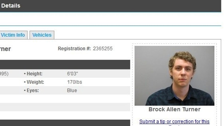 Brock Turner registered as a sex offender on Tuesday.