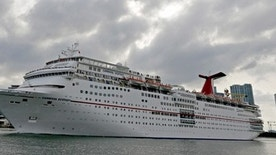 The Carnival cruise ship Ecstasy leaves the port in Miami, Florida, September 18, 2015. The United States on Friday issued regulations easing restrictions on American companies seeking to do business in Cuba and opening up travel in the latest action to weaken the U.S. trade embargo amid warming relations with the Communist country. REUTERS/Joe Skipper - RTS1TH8