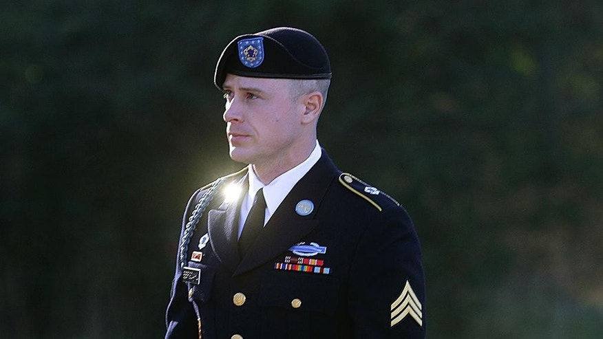 FILE - In this Jan. 12, 2016, file photo, Army Sgt. Bowe Bergdahl arrives for a pretrial hearing at Fort Bragg, N.C. Prosecutors argue that serious injuries to two soldiers who searched for Bergdahl in 2009 show that he endangered his comrades by leaving his post in Afghanistan. The motion filed this month lays out how prosecutors plan to tie the injuries into arguments that Bergdahl is guilty of misbehavior before the enemy. It's a relatively rare charge that carries up to a life sentence. AP Photo/Ted Richardson, File)