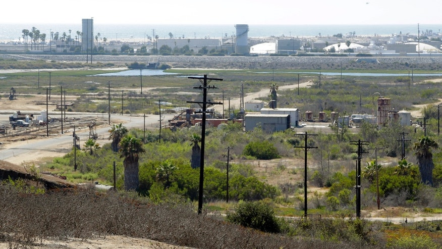 This Aug. 18, 2016 file photo shows Banning Ranch, including what remains of an oil-extraction operation, on what is believed to be the biggest piece of privately-owned vacant land on Southern California's coast in Newport Beach.