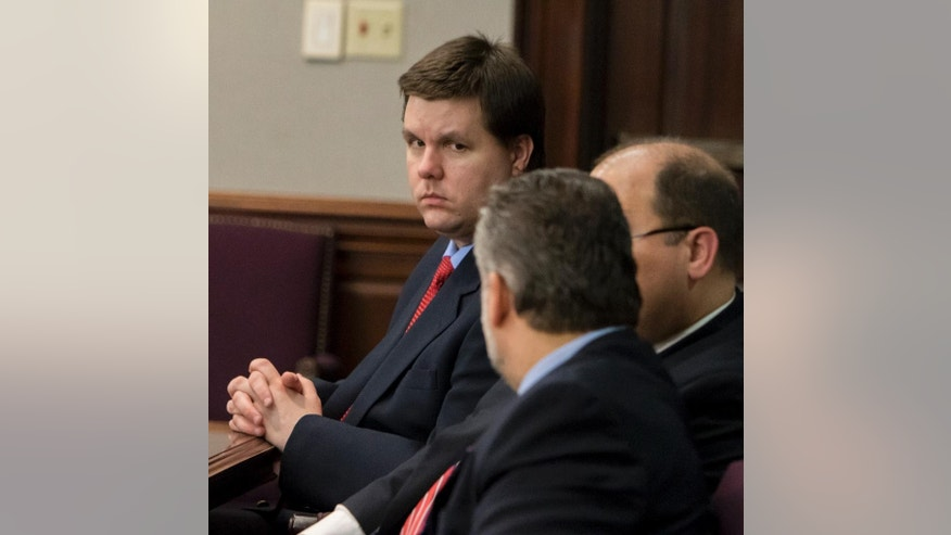 Ross Harris sits next to his attorneys in court during the first day of jury selection at his trial in Brunswick, Ga., Monday, Sept.12, 2016. Harris is charged with murder in the June 2014 death of his 22-month-old son, Cooper. The child died in the back seat of a hot SUV. (Stephen B. Morton/The Atlanta Journal Constitution via AP, Pool)