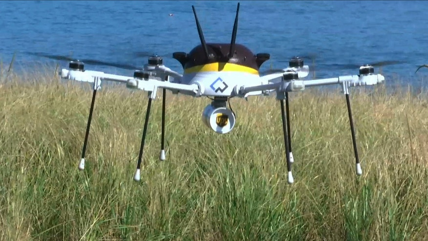 UPS is testing drones for package delivery.