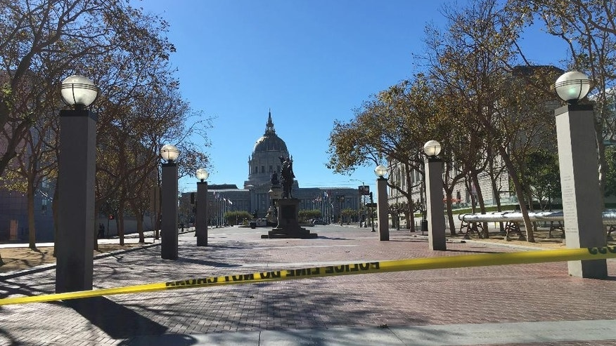 Sept. 24, 2016: Police in San Francisco have blocked off traffic around Civic Center and United Nations Plaza after receiving reports of a man who might be armed.