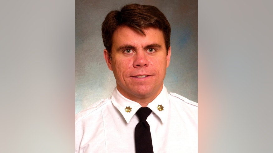This photo provided by FDNY shows New York City firefighter Michael Fahy, who was killed in a house explosion Tuesday, Sept. 27, 2016, in the Bronx borough of New York. Authorities said they were responding to a report of a gas leak when the residence exploded and Fahy was struck by debris. (FDNY via AP)