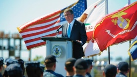 """Secretary of Defense Ash Carter speaks to sailors on the flight deck of the USS Carl Vinson, Thursday, Sept. 29, 2016 at Naval Air Station, North Island in Coronado, Calif. Defense Secretary Ash Carter on Thursday said the U.S. will """"sharpen our military edge"""" in Asia and the Pacific in order to remain a dominant power in a region feeling the effects of China's rising military might. Carter made the pledge in a speech aboard the aircraft carrier USS Carl Vinson in port in San Diego. (Nelvin C. Cepeda/The San Diego Union-Tribune via AP)"""