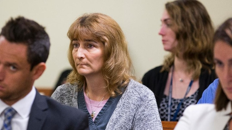 Lisa Creato, the mother of David Creato Jr., appears in Camden County Superior Court, Monday, Oct. 3, 2016, in Camden, N.J. A judge has agreed to delay the murder trial of Creato, the father accused of killing his son. (Jessica Griffin/The Philadelphia Inquirer via AP, Pool)