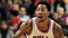 Oct 16, 2014; Chicago, IL, USA; Chicago Bulls guard Derrick Rose (1) during the first half of their pre-season game against the Atlanta Hawks at the United Center. Mandatory Credit: Matt Marton-USA TODAY Sports
