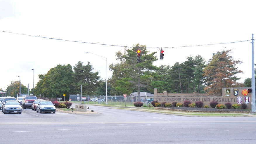 The main gate for Fort Campbell on the Kentucky-Tennessee border.