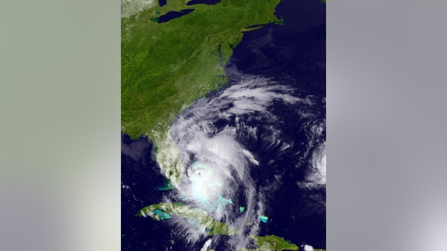 This GOES East satellite image posted at 5:12 p.m. and provided by the National Oceanic and Atmospheric Administration (NOAA), shows Hurricane Matthew moving northwest along the east coast of Florida, Thursday, Oct. 6, 2016. Leaving more than 100 dead in its wake across the Caribbean, Hurricane Matthew steamed toward heavily populated Florida with terrifying winds of 140 mph Thursday, and 2 million people across the Southeast were warned to flee inland.  (NOAA via AP)